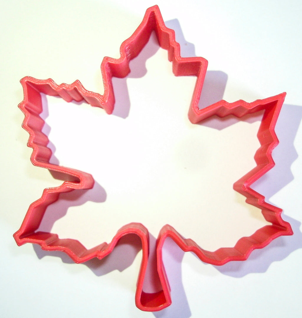 "Maple Leaf Fall Season Leaves Special Occasion Fondant Stamp Cutter or Cupcake Topper Size 1.75"" Made in USA FD251"