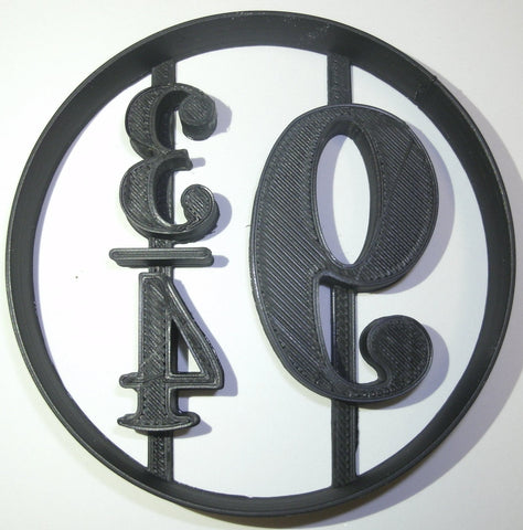 "Coco Chanel Logo Luxury Fashion Brand Special Occasion Fondant Stamp Cutter or Cupcake Topper Size 1.75"" Made in USA FD843"