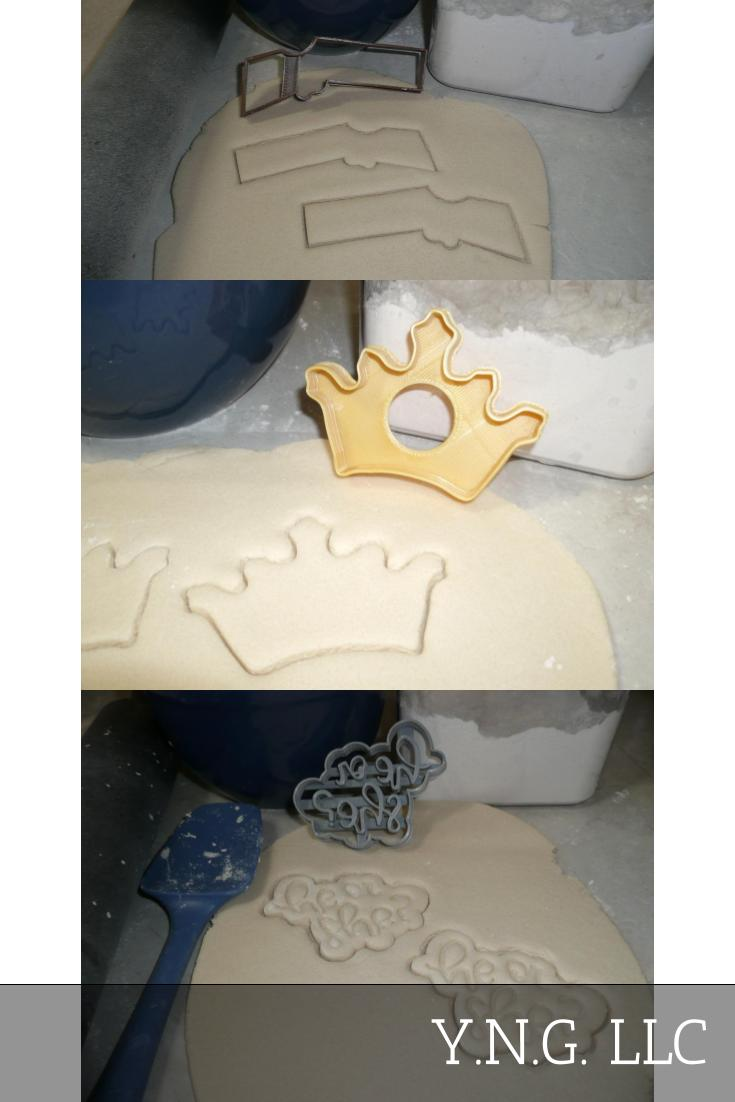 Guns Or Glitter Gender Reveal Baby Shower Set Of 3 Cookie Cutters USA PR1401