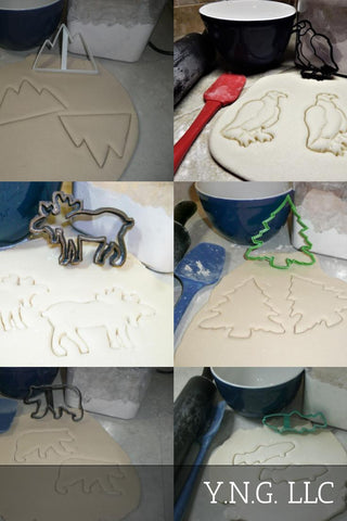 Dino Outlines Cartoon Style Dinosaurs Set Of 6 Cookie Cutters USA PR1427