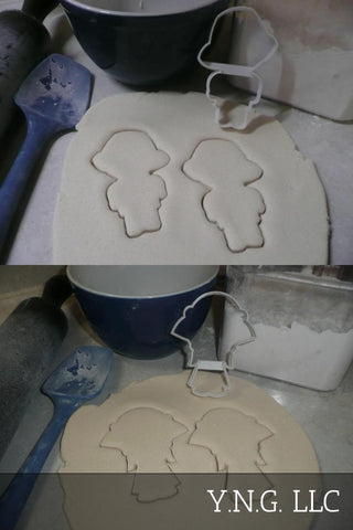 Bunny Rabbit Floppy Ear Ears Outline Set Of 2 Easter Cookie Cutters USA PR3057