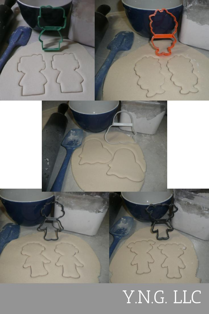 Kids Costumes Outlines Trick Treat Halloween Set Of 5 Cookie Cutters USA PR1387
