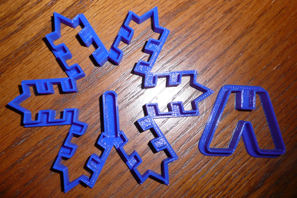3D Snowflake Christmas Cookie Cutter Baking Tool Holiday Special Occasion Made In USA PR292