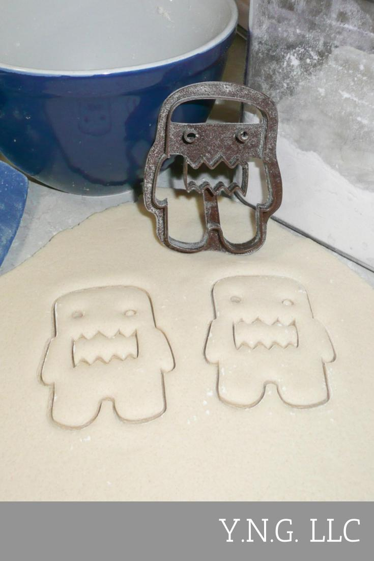 Domo Kun Cartoon Monster Character Special Occasion Cookie Cutter Baking Tool Made In USA PR429