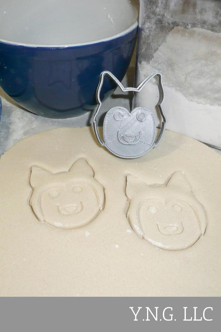 Husky Breed Dog Puppy Pet Animal Special Occasion Cookie Cutter Baking Tool Made In USA PR434