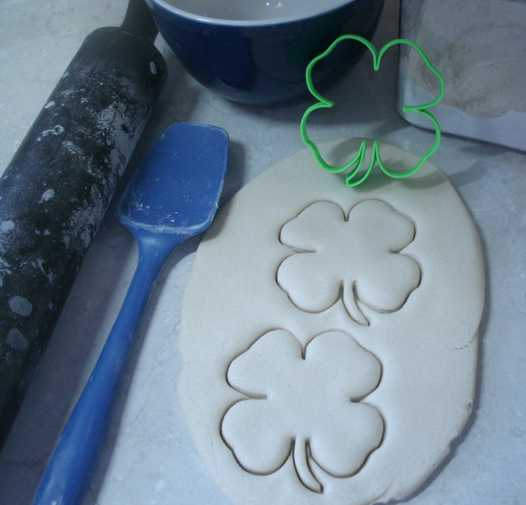 4H Clover Lucky Leaf Pledge Head Heart Health Hands Cookie Cutter USA PR2436