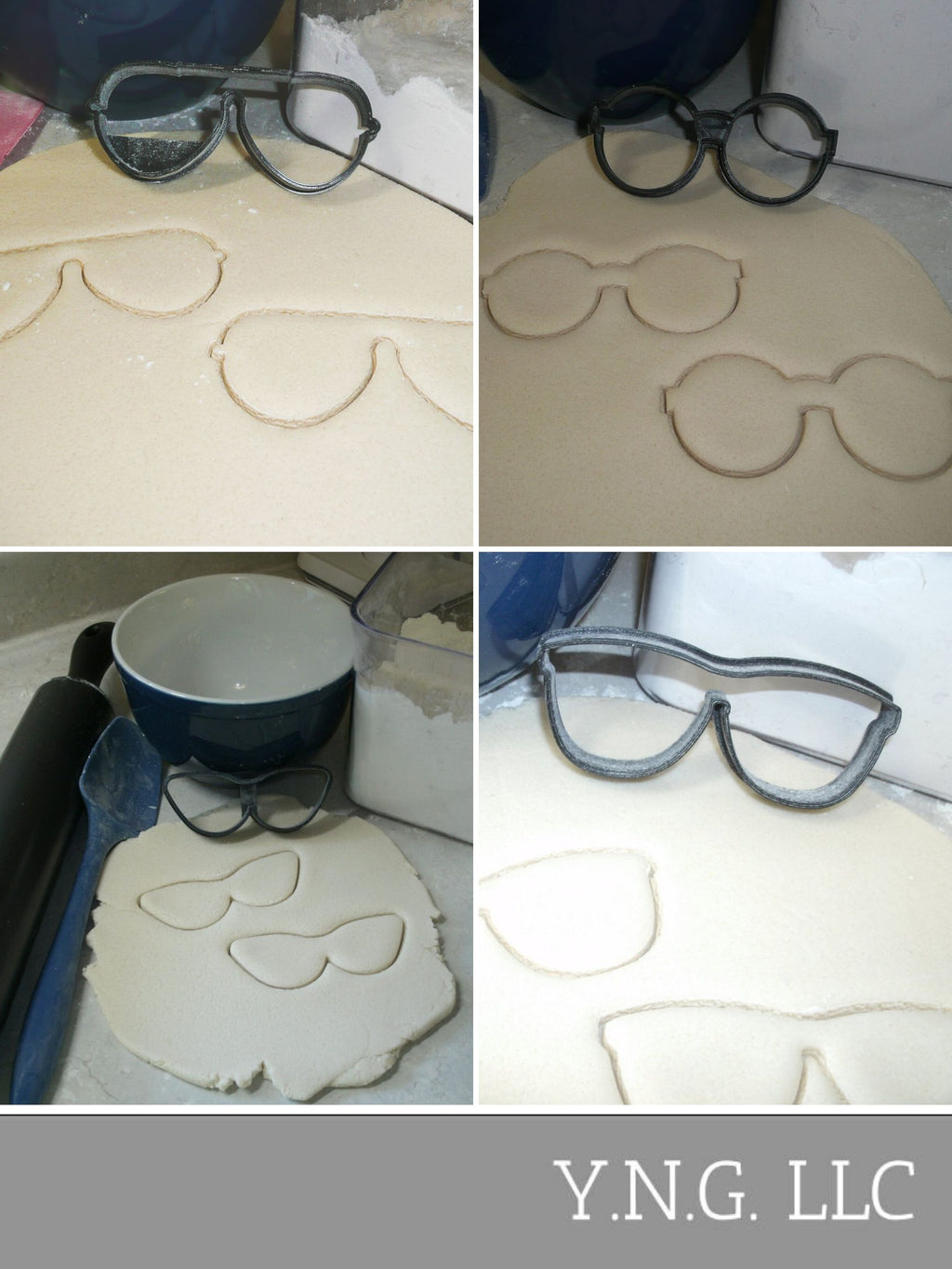Sunglasses Glasses Style Frame Set of 4 Cookie Cutters USA PR1515