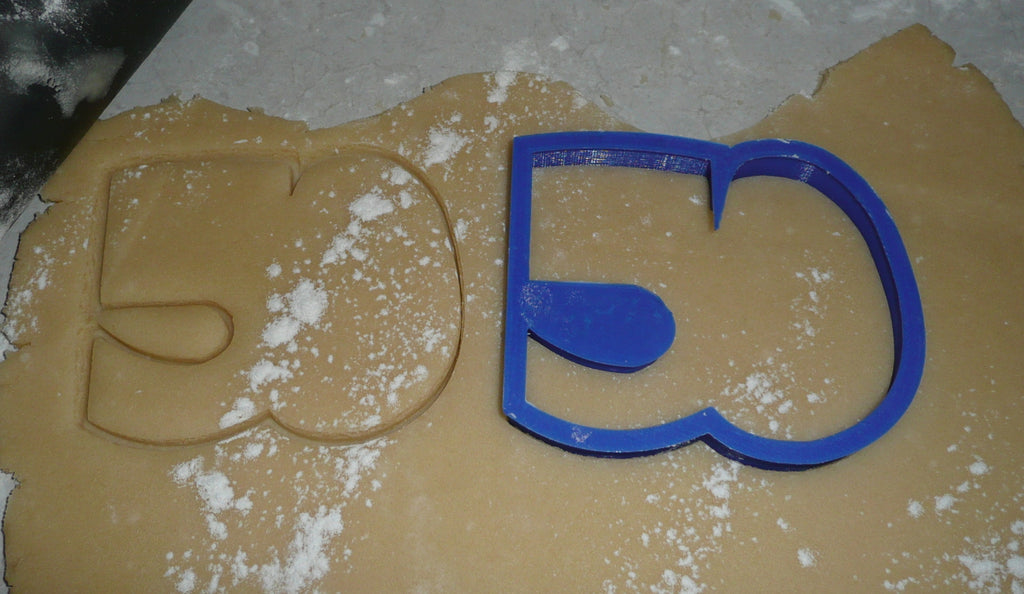 Number 50 Fifty Anniversary Birthday Sports Party Special Occasion Cookie Cutter Baking Tool Made In USA PR108-50