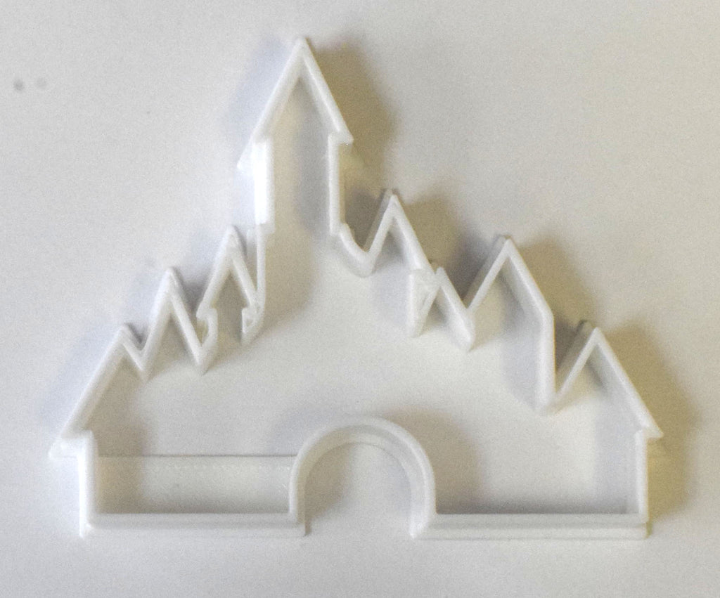 "Cinderella Castle Disney World Land Resort Princess Special Occasion Fondant Stamp Cutter or Cupcake Topper Size 1.75"" Made in USA FD513"