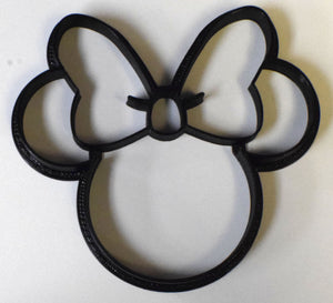 "Minnie Mouse Head Cartoon Disney Character Special Occasion Fondant Stamp Cutter or Cupcake Topper Size 1.75"" Made in USA FD530"