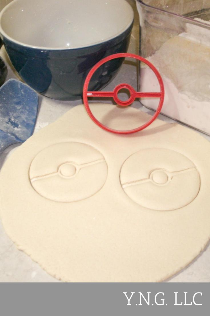 Pokemon Pokeball Poke Ball Special Occasion Cookie Cutter Baking Tool Made In USA PR548