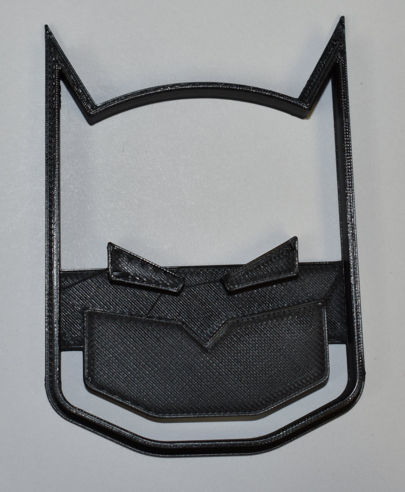 "Batman Face Mask Superhero DC Comics Character Special Occasion Fondant Stamp Cutter or Cupcake Topper Size 1.75"" Made in USA FD583"