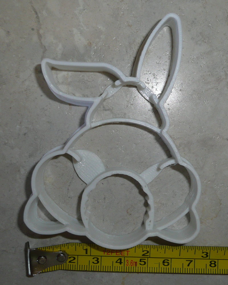 Easter Bunny Butt Back Spring Holiday Rabbit Special Occasion Cookie Cutter Baking Tool Made In USA PR2341