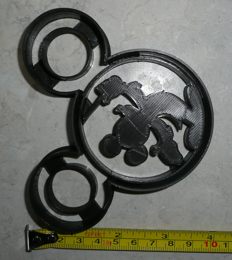 Mickey Mouse Conductor Train Concert Wand Silhouette Disney Special Occasion Cookie Cutter Baking Tool Made In USA PR617