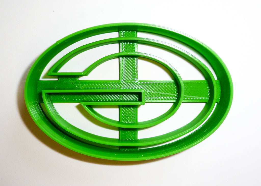 Green Bay Packers NFL Football Logo Special Occasion Cookie Cutter Baking Tool 3D Printed Made In USA PR942