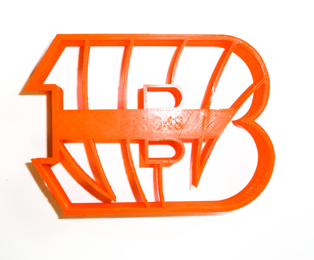 Cincinnati Bengals NFL Football Logo Special Occasion Cookie Cutter Baking Tool 3D Printed Made In USA PR948