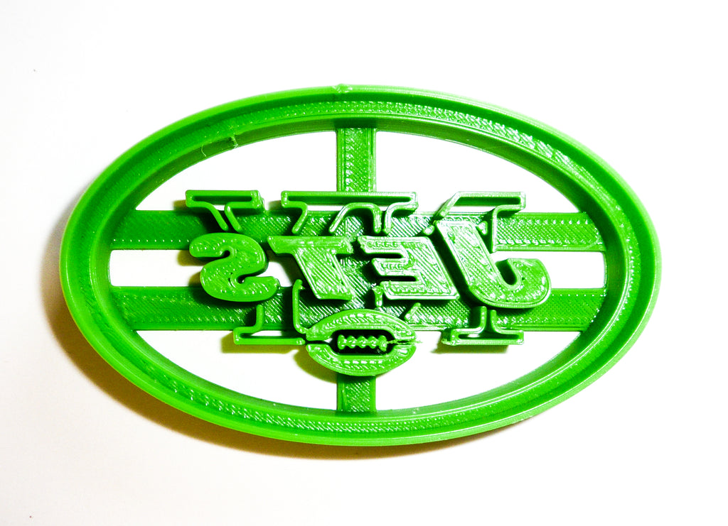 "New York Jets NFL Football Logo Special Occasion Fondant Stamp Cutter Or Cupcake Topper Size 1.75"" Made In USA FD951"