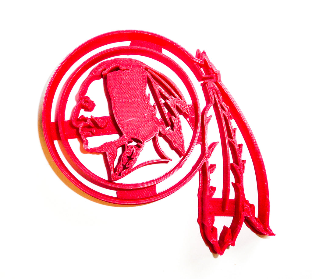 Washington Redskins NFL Football Logo Special Occasion Cookie Cutter Baking Tool 3D Printed Made In USA PR954
