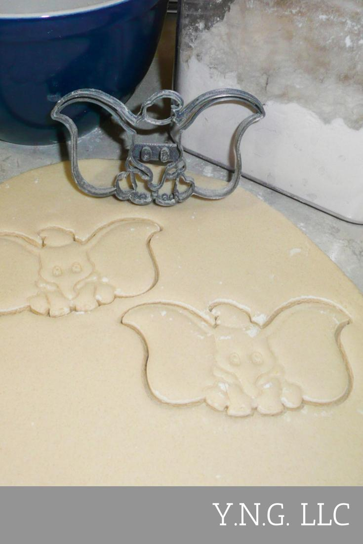 Dumbo Circus Elephant Jumbo Jr Kids Disney Movie Character Special Occasion Cookie Cutter Baking Tool Made in USA PR988