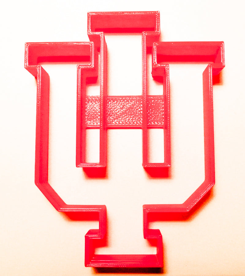 Indiana Hoosiers IU NCAA D1 Football Sports Logo Special Occasion Fondant  Stamp Cutter Or Cupcake Topper Size 1 75