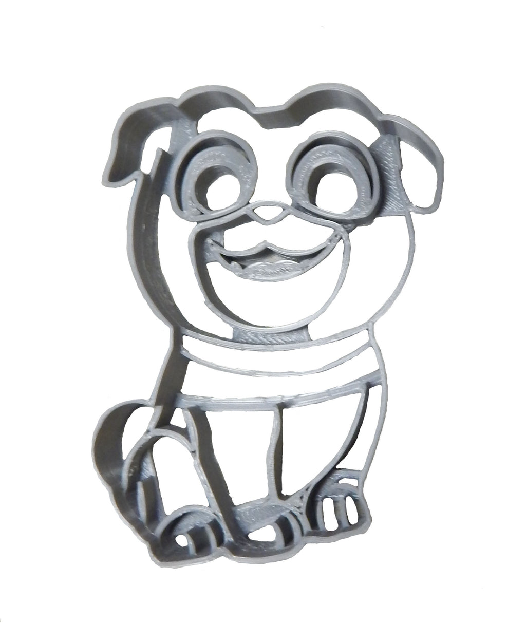 "Puppy Dog Pal TV Show Disney Brothers Bingo Rolly Pals Character Fondant Stamp Cutter Or Cupcake Topper Size 1.75"" USA FD2262"