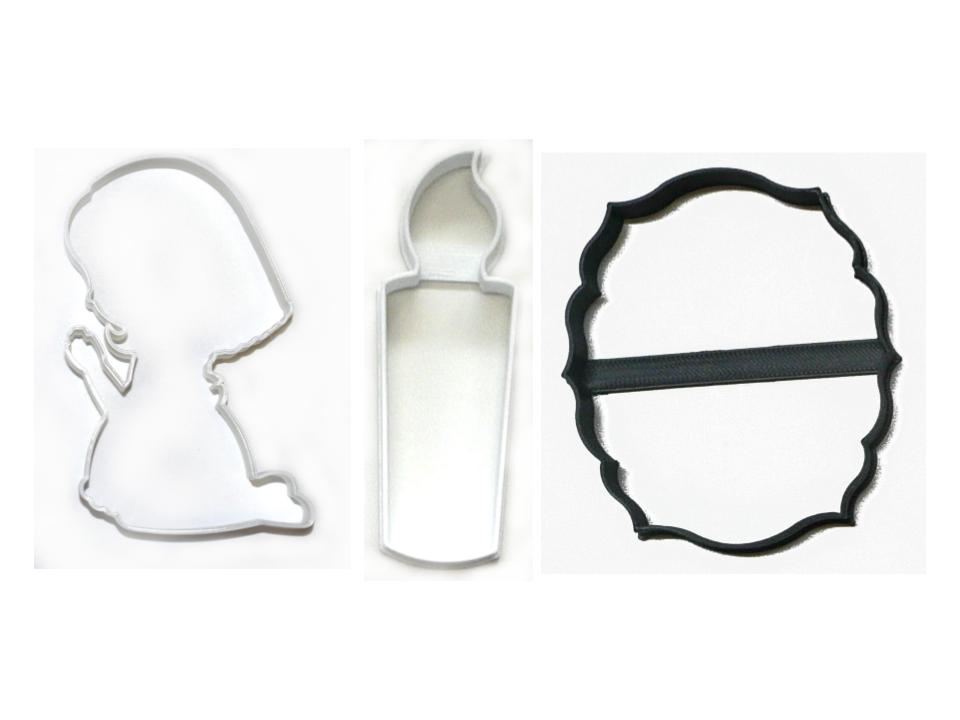 Prayer Vigil Praying Candle Faith Set of 3 Cookie Cutters USA PR1465