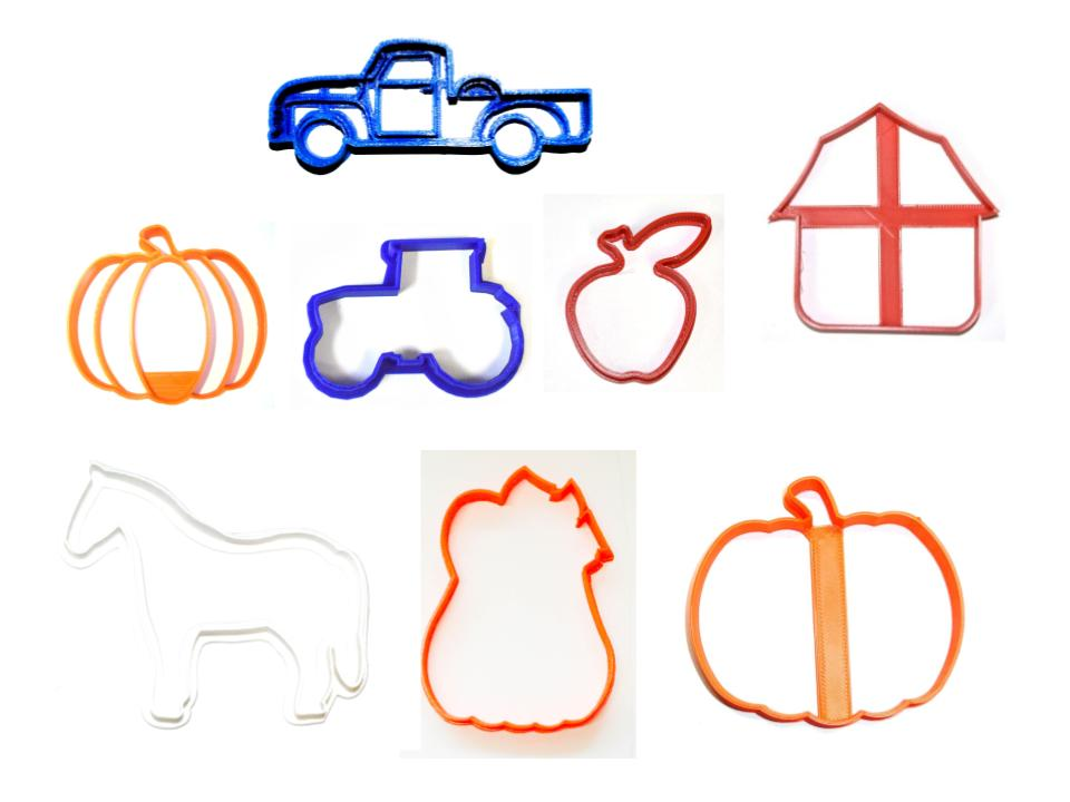 Fall Farm Pumpkin Patch Country Barn Scene Set Of 8 Cookie Cutters USA PR1525
