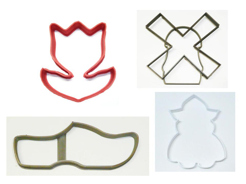 Tulip Festival Dutch Heritage Holland Set of 4 Cookie Cutters USA PR1486