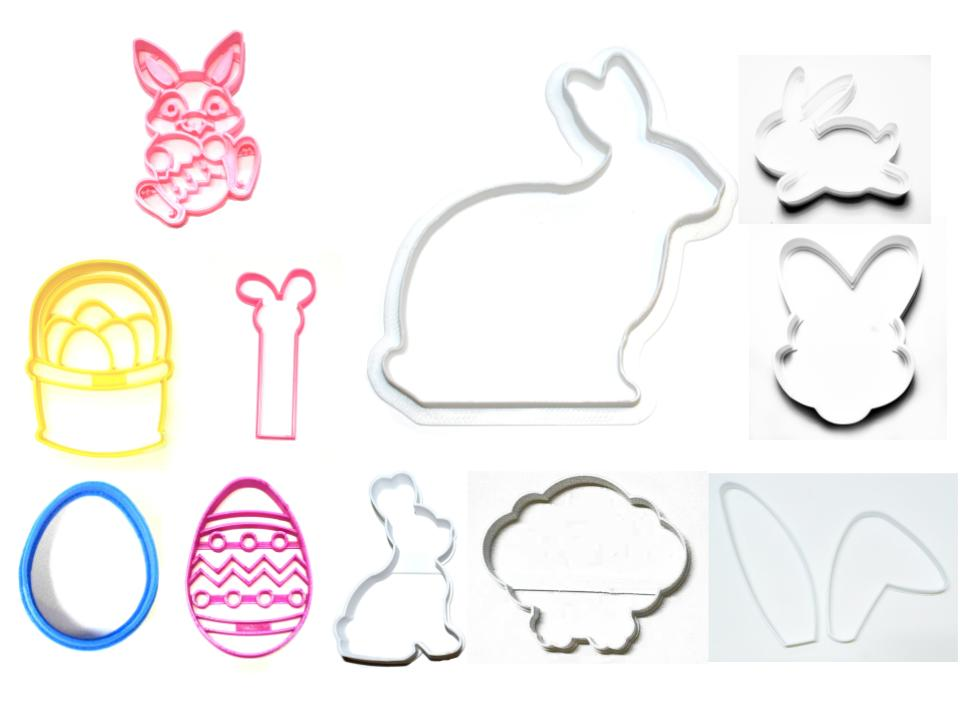 Easter Bunny Rabbit Large Kit Basket Egg Set Of 11 Cookie Cutters USA PR1529