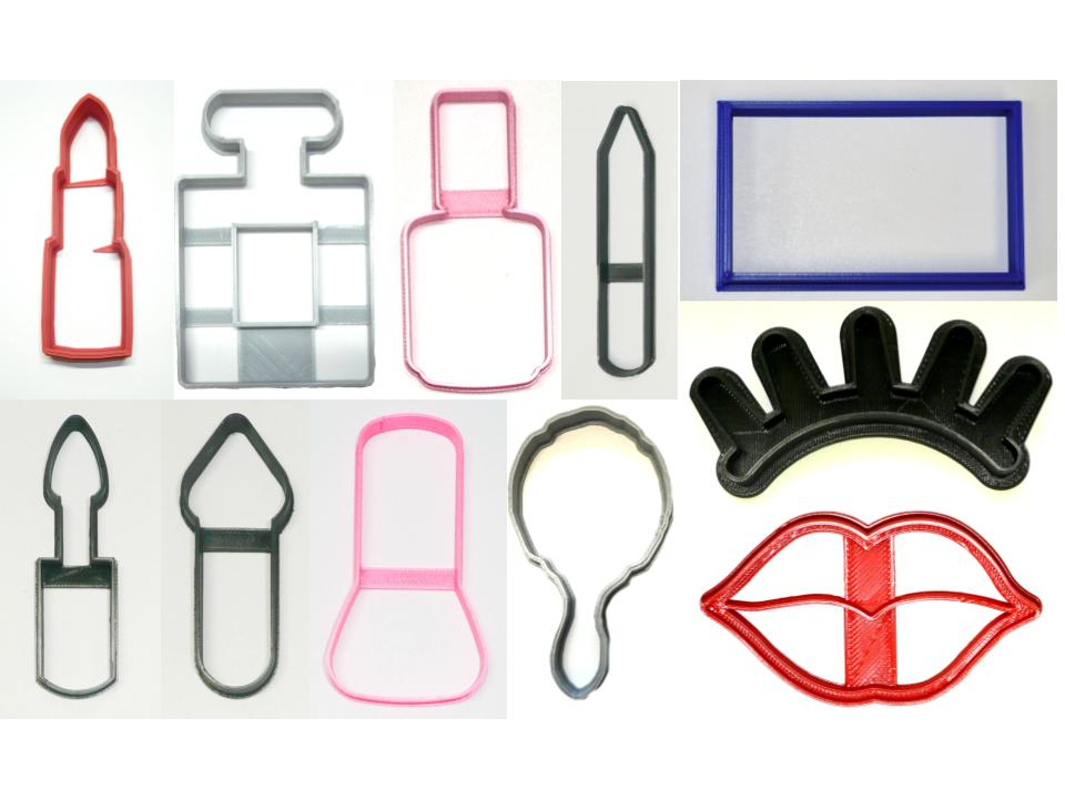 Makeup Make Up Cosmetics Spa Face Set of 11 Cookie Cutters USA PR1503