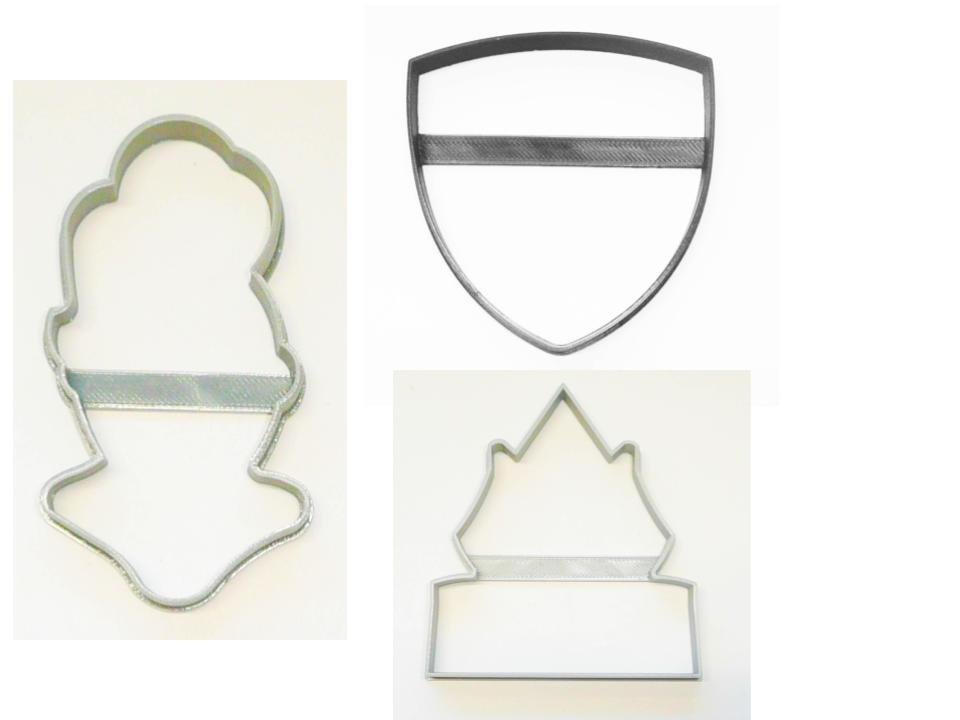 Knight in Shining Armor Medieval Set of 3 Cookie Cutters USA PR1514