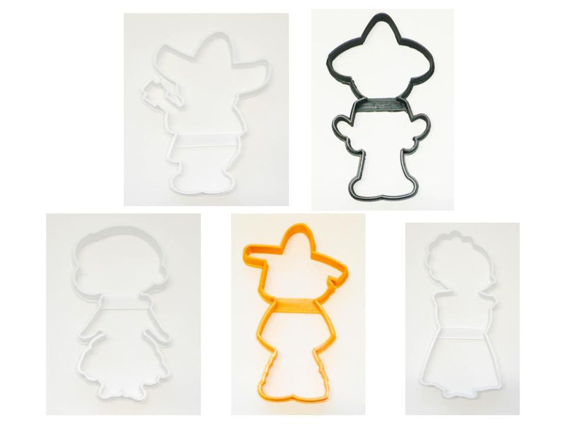 Mariachi Spanish Mexican Fiesta Set of 5 Cookie Cutters USA PR1497