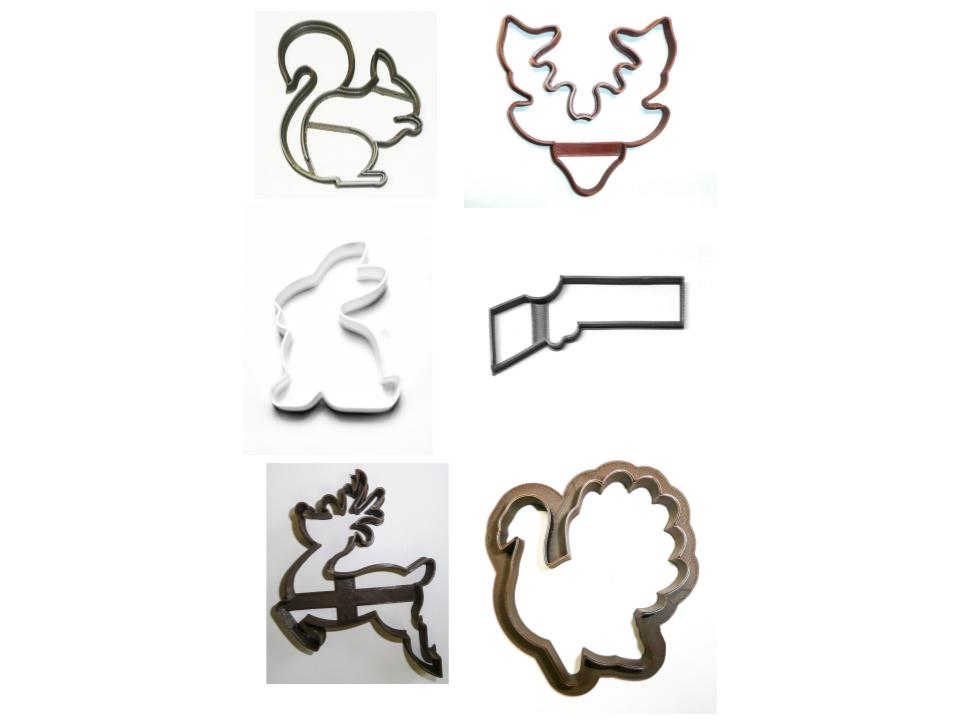 Hunting Season Hunt Set of 6 Cookie Cutters USA PR1520