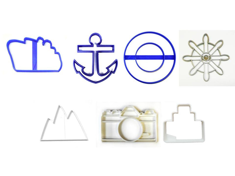 Alaskan Cruise Ship Alaska Vacation Set of 7 Cookie Cutters USA PR1510