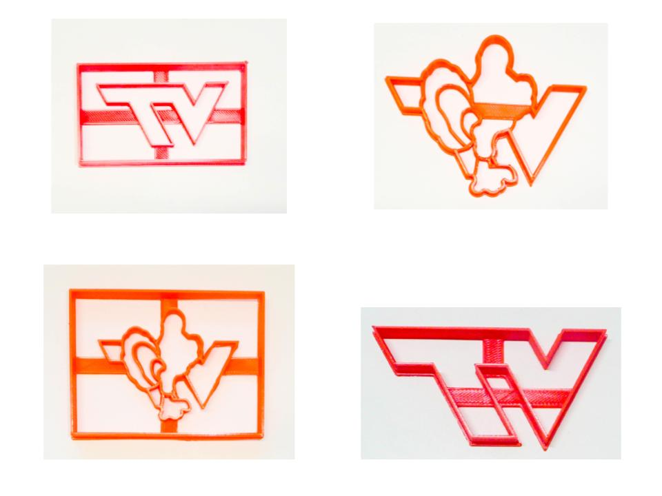 Virginia Tech University VT Hokies Set of 4 Cookie Cutters USA PR1521