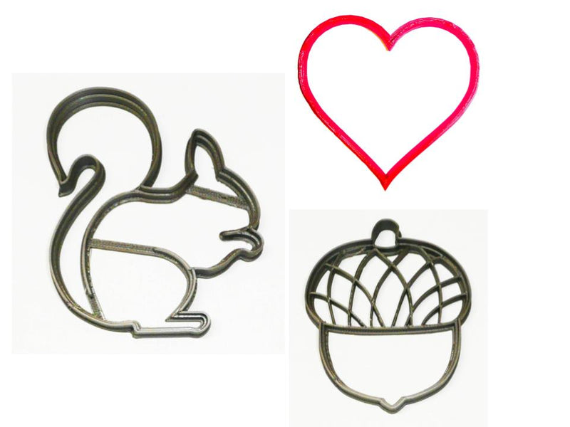 I Am Nuts About You Valentines Day Set of 3 Cookie Cutters USA PR1478