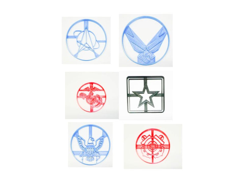 Military Branch US Armed Forces Set of 6 Cookie Cutters USA PR1522