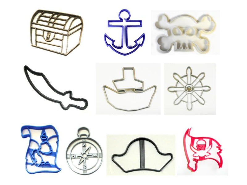Pirate Ship Boat Kit Set of 10 Cookie Cutters USA PR1512