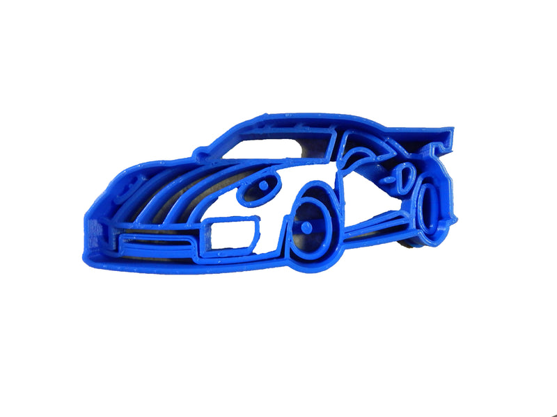 "Sports Car Race Racing Fast Vehicle Automobile Auto Muscle Driving Sportscar Fondant Stamp Cutter Or Cupcake Topper Size 1.75"" Made In USA FD2143"