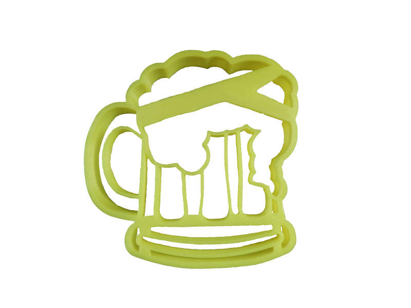 "Beer Mug With Foam Cup Alcoholic Beverage Soda Pop Root Beer Glass Bar Frosty Frothy Alcohol Ale Stout Draft Fondant Stamp Cutter Or Cupcake Topper Size 1.75"" Made In USA FD2318"