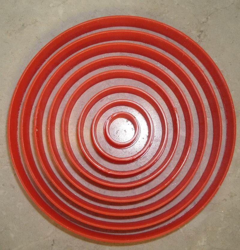 Ascending Circles Set of 8 Special Occasion Cookie Cutter Baking Tool Made in USA PR755
