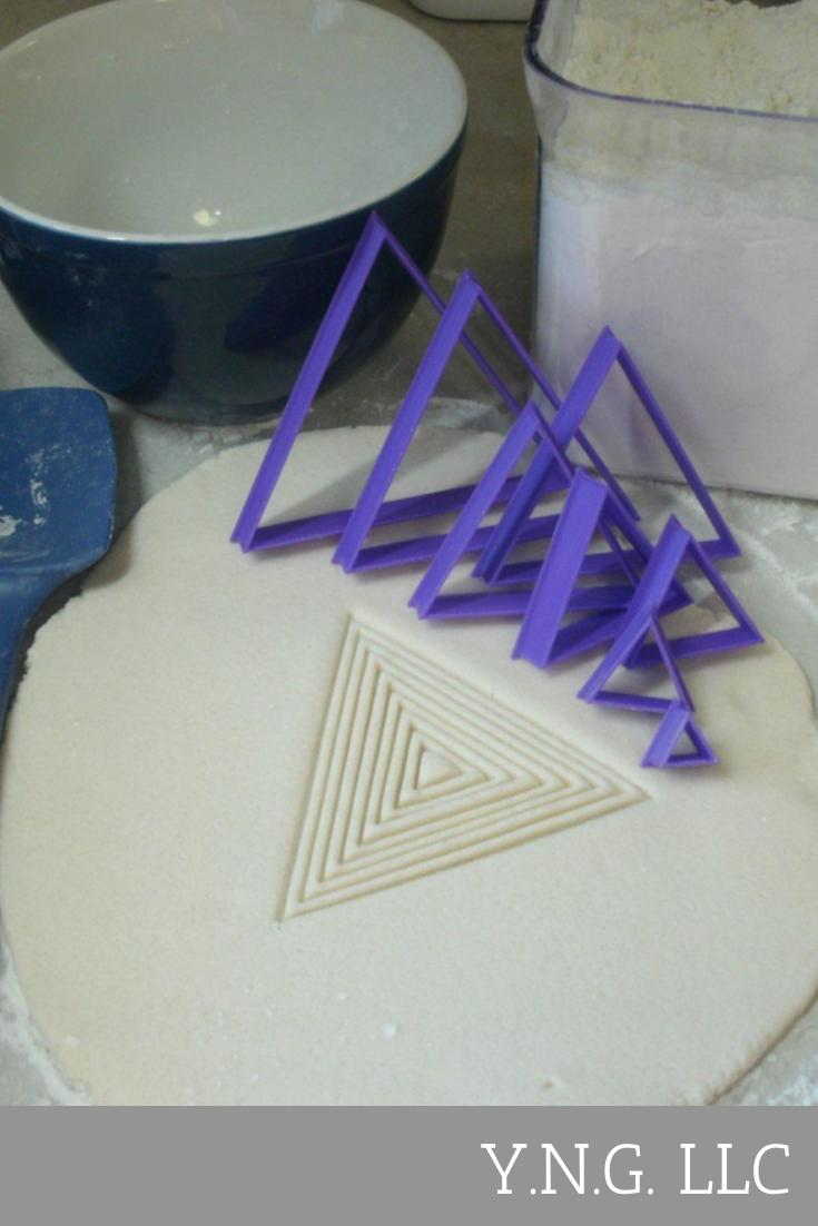 Ascending Triangles Set of 8 Special Occasion Cookie Cutter Baking Tool Made in USA PR756