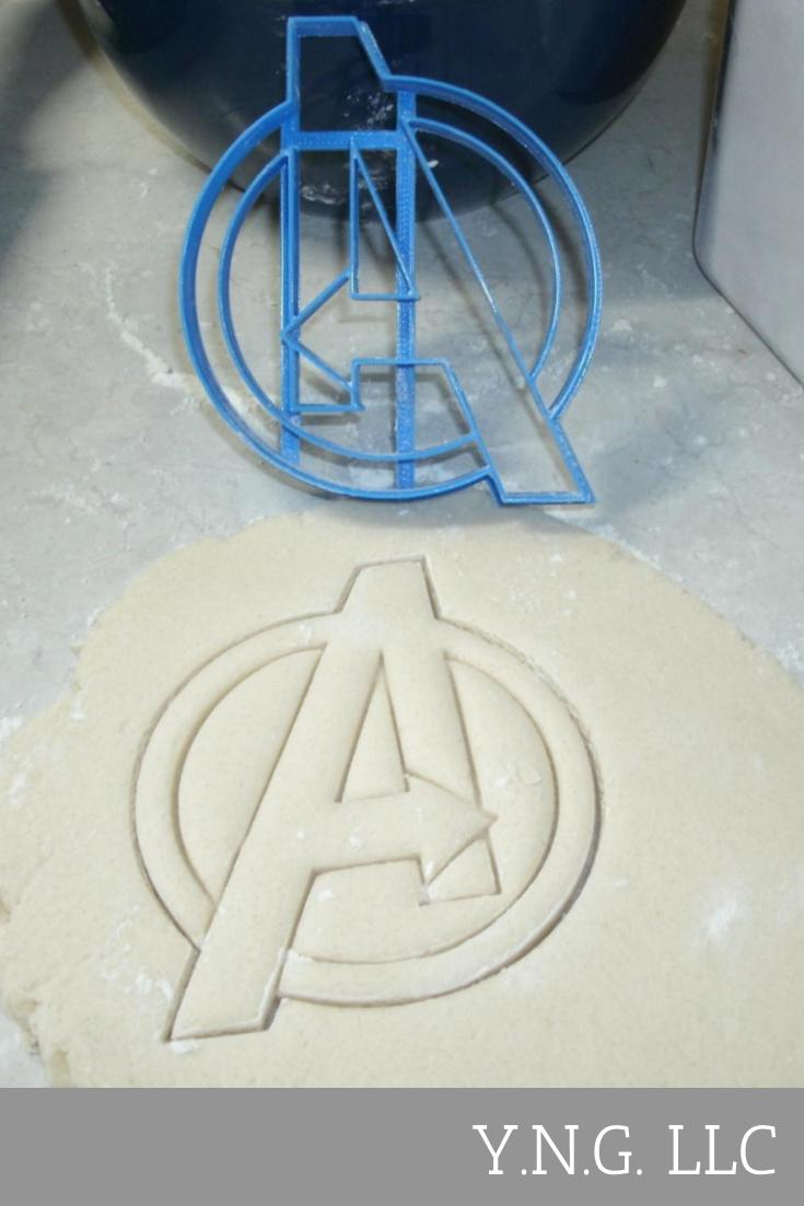 Avengers Logo Marvel Superheroes Cookie Cutter Baking Tool Made In USA PR584
