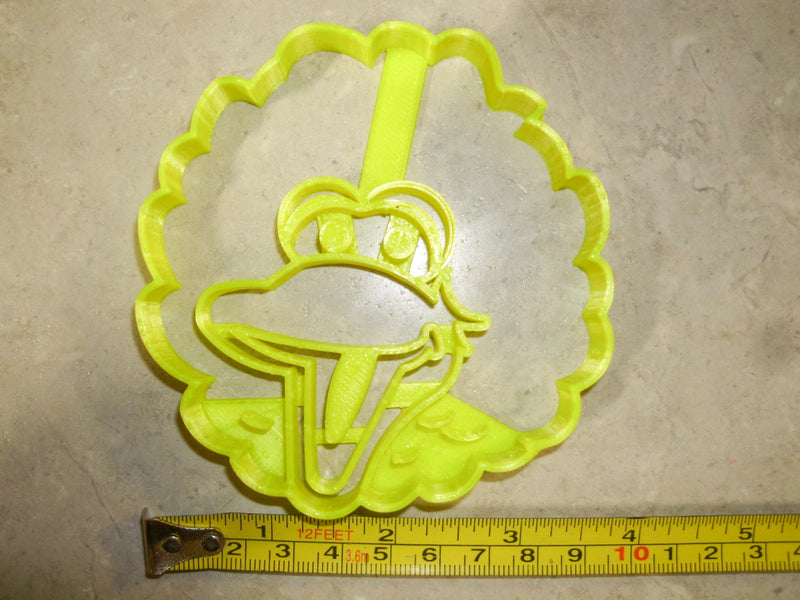 Big Bird Face Sesame Street Main Character Muppet Canary Kids TV Show Special Occasion Cookie Cutter Baking Tool Made In USA PR2246