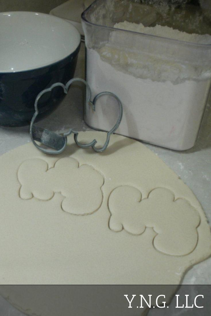 Baby Word Cursive Fun Font Shower Gender Reveal Special Occasion Cookie Cutter Baking Tool Made in USA PR845