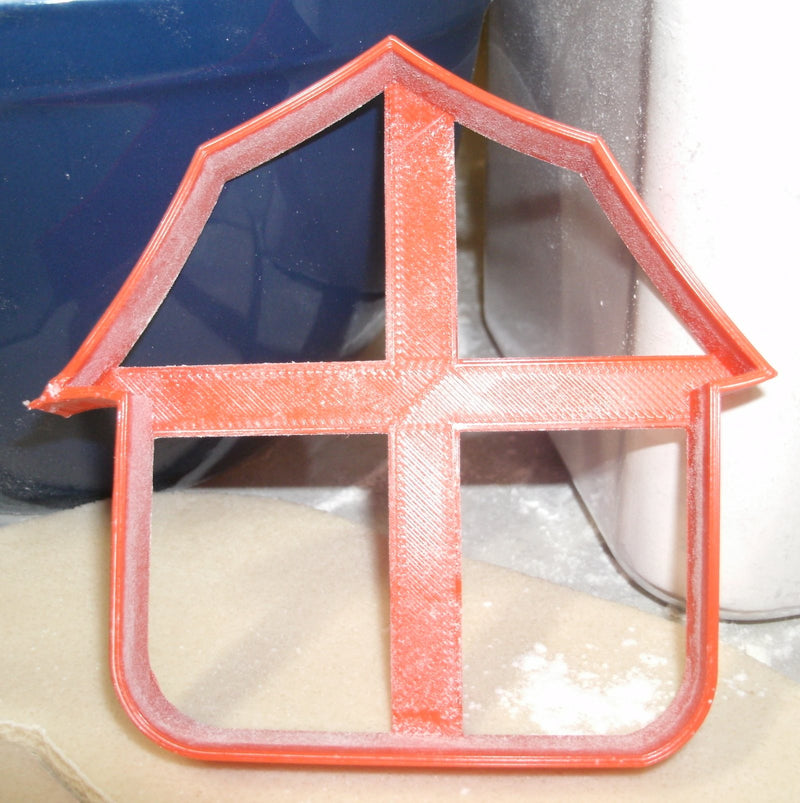 Red Barn Farm Building Agriculture Special Occasion Cookie Cutter Baking Tool Made in USA PR663