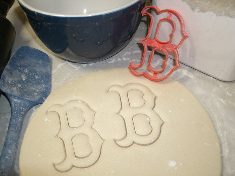 BOSTON RED SOX BASEBALL MLB WITH DETAIL FONDANT BAKING COOKIE CUTTER USA PR423