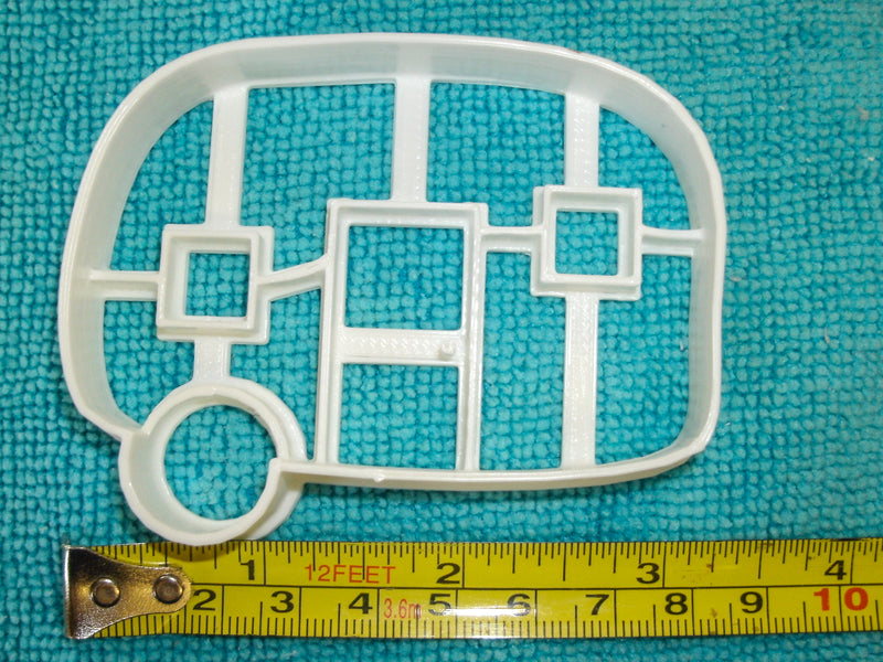 Camper Trailer Travel Rv Adventure Camping Vintage Minimalist Special Occasion Cookie Cutter Baking Tool Made in USA PR831