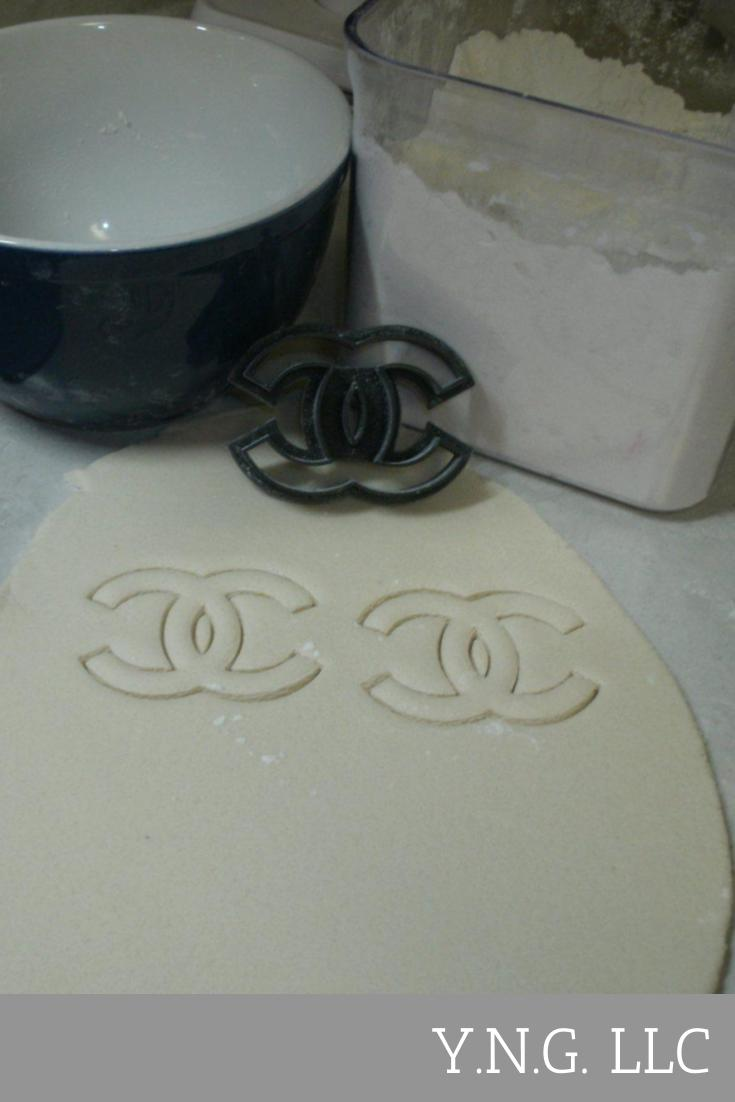 Coco Chanel Logo Luxury Fashion Brand Special Occasion Cookie Cutter Baking Tool Cake Made in USA PR843