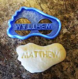 Plain Or Custom Name Baby Foot Feet Shower Party Special Occasion Cookie Cutter Baking Tool Made In USA PR76